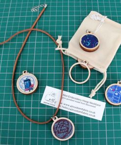 mini embroidery hoop necklace kit