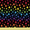 Rainbow Raindrops on Black