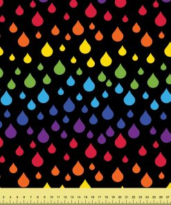 Rainbow Raindrops on Black