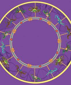 Carousel Dinosaurs Circle Skirt