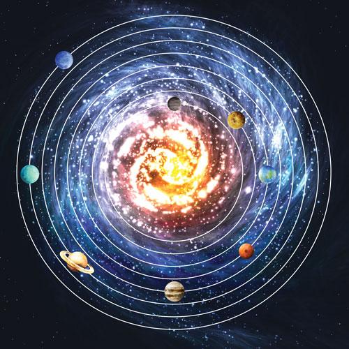 Solar System Circle Skirt