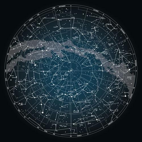 Star Map Circle Skirt