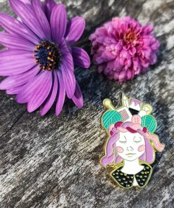 Crafter Brain Pin Badge